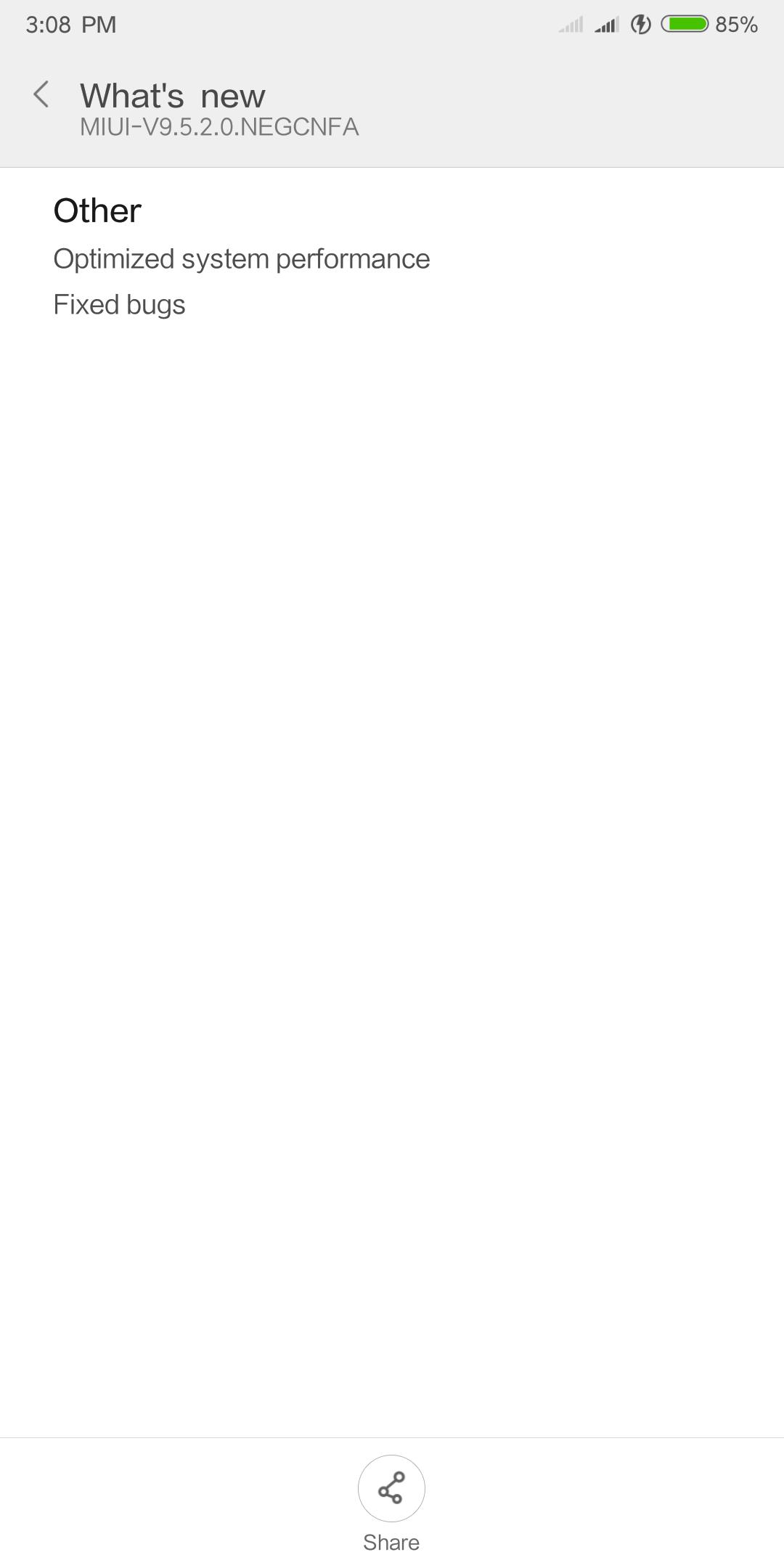 Redmi 5 plus receive a new update