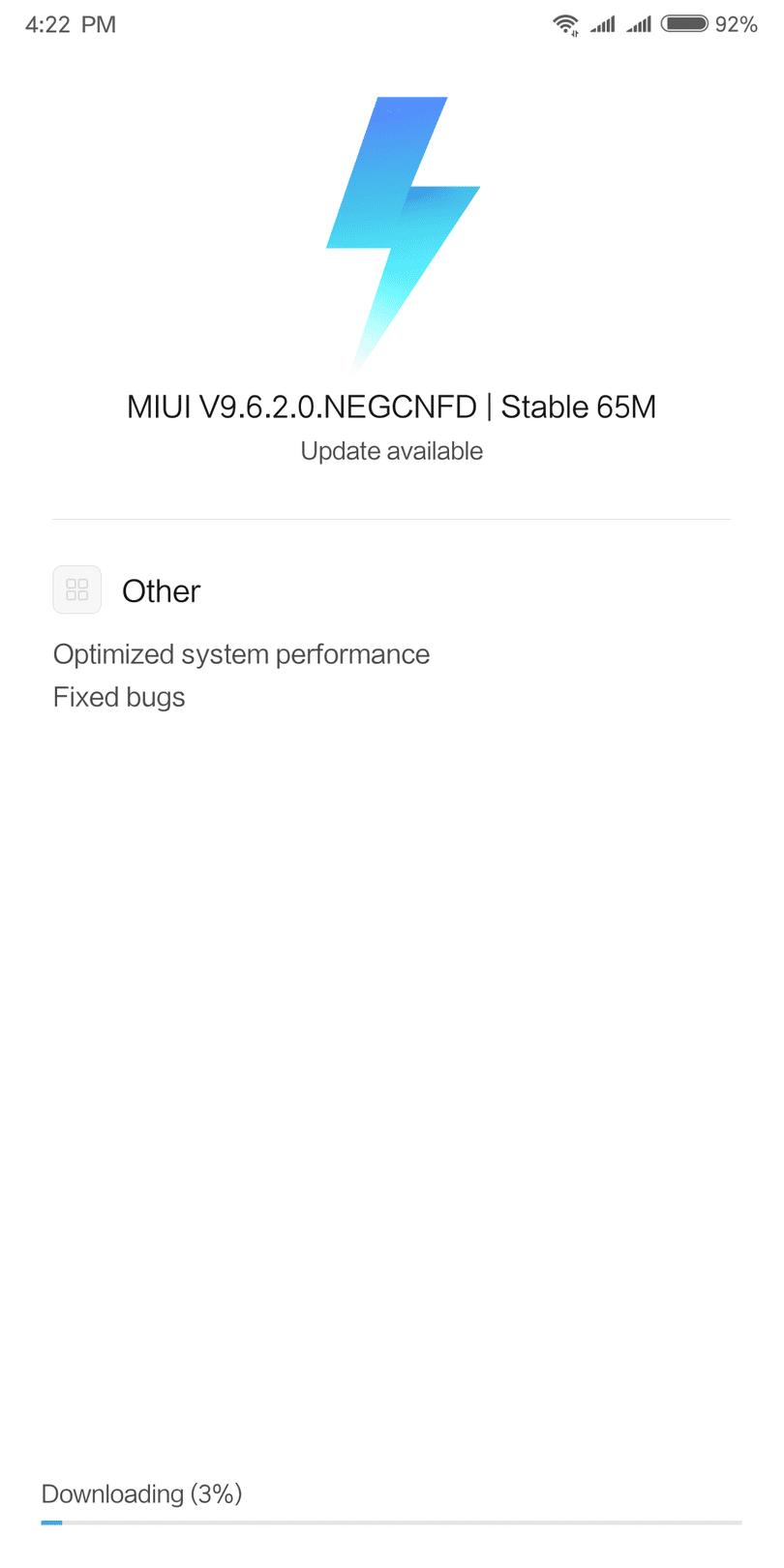 New update MIUI 9 6 2 0 NEGCNFD update now hitting Xiaomi Redmi 5 plus