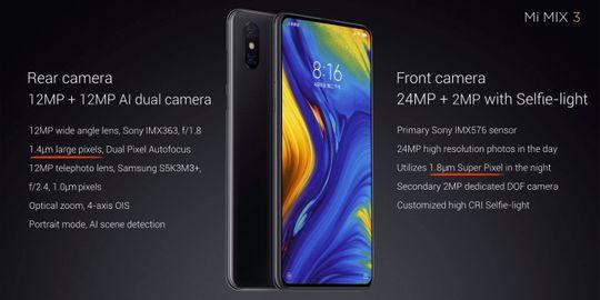 Xiaomi MI Mix 3 specifications