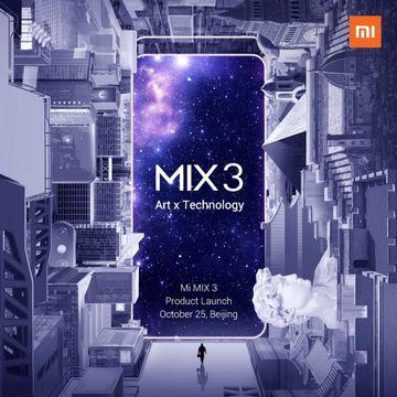 MI Mix 3 launch