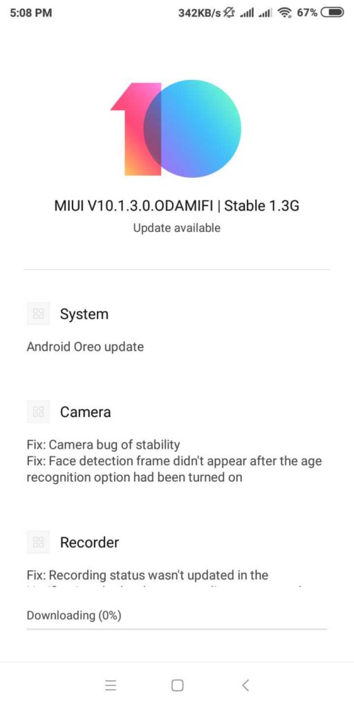 MIUI 10 1 3 0 ODAMIFI stable starts rolling out on Redmi 5