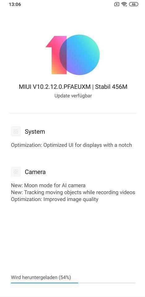 MIUI 10.2.12.0 PEAEUXM stable