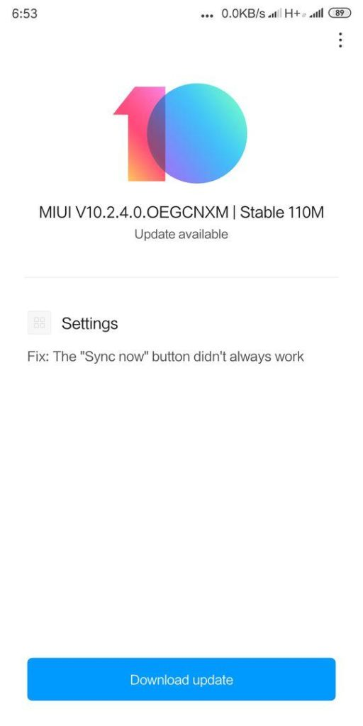 MIUI 10 2 4 0 OEGCNXM stable starts arriving on Redmi 5 Plus